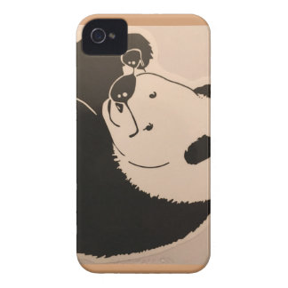 Cool Panda with Shades iPhone 4 Case-Mate Case
