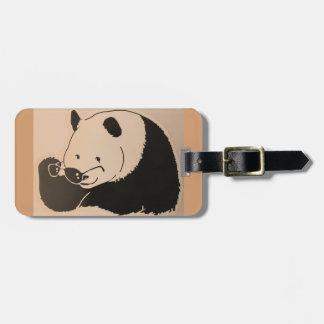 Cool Panda with Shades Luggage Tag