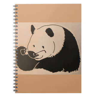 Cool Panda with Shades Notebooks