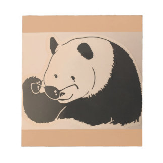 Cool Panda with Shades Notepad