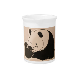Cool Panda with Shades Pitcher
