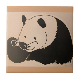 Cool Panda with Shades Tile