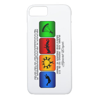 Cool Parachuting It Is A Way Of Life iPhone 8/7 Case