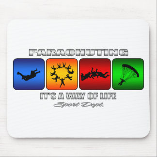 Cool Parachuting It Is A Way Of Life Mouse Pad