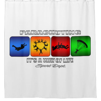 Cool Parachuting It Is A Way Of Life Shower Curtain