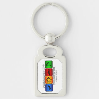 Cool Parachuting It Is A Way Of Life Silver-Colored Rectangle Key Ring