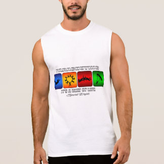 Cool Parachuting It Is A Way Of Life Sleeveless Shirt