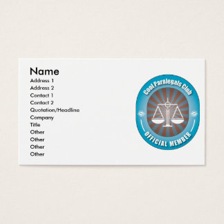 Cool Paralegals Club Business Card