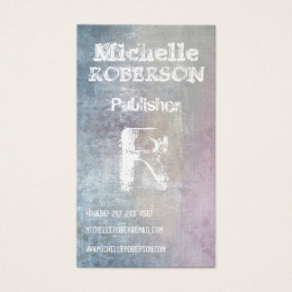 Cool pastel multicolored watercolor business card