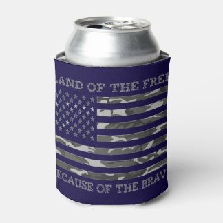 Cool Patriotic American Flag Land Of The Free Can Cooler