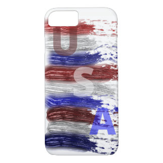 Cool Patriotic Red, White and Blue Men's iPhone 8/7 Case