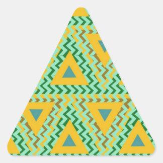 cool pattern base triangle sticker