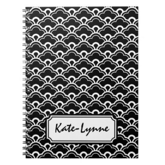 Cool Pattern Black and White Personalized Notebook