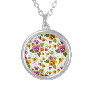 cool pattern flowers personalized necklace
