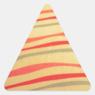 cool pattern waves triangle sticker
