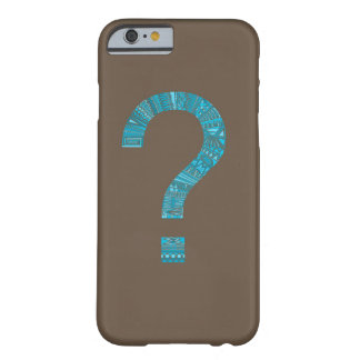 Cool Patterned Question Mark Barely There iPhone 6 Case