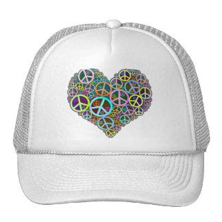 Cool Peace Love Heart Trucker Hat