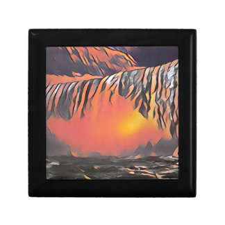 Cool Peach Artistic Waterfall Small Square Gift Box
