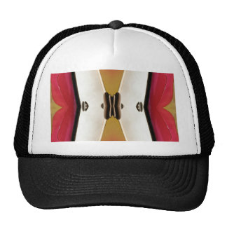 Cool Peach White Modern Abstract Butterfly Cap