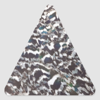 Cool Peacock Feathers Triangle Sticker
