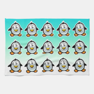 Cool Penguins Cartoon Hand Towels