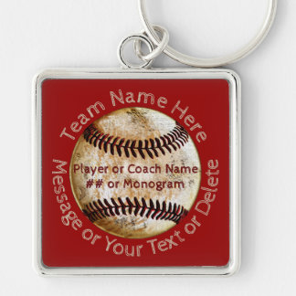 Cool Personalised Baseball Team Gifts, Keychains