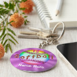 Cool PERSONALIZED Multicolor Softball Keychains Keychain