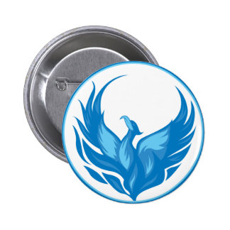 Cool Phoenix Bird Design 6 Cm Round Badge