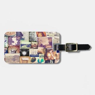 Cool Photo Filter Hipster Collage Luggage Tag