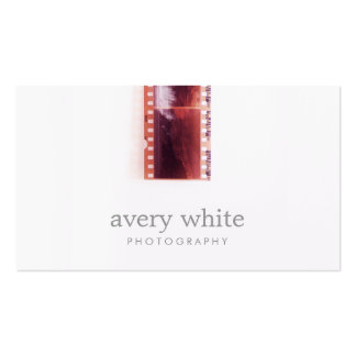 Cool Photographer Vintage Photo Film Simple White Pack Of Standard Business Cards