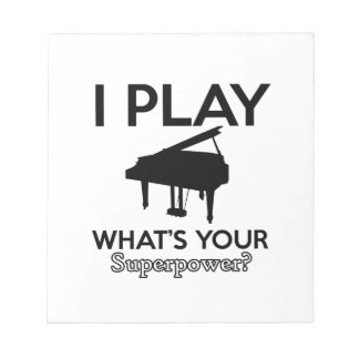 cool piano designs notepad