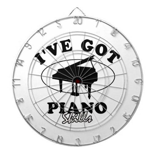 Cool piano musical instrument designs dart boards