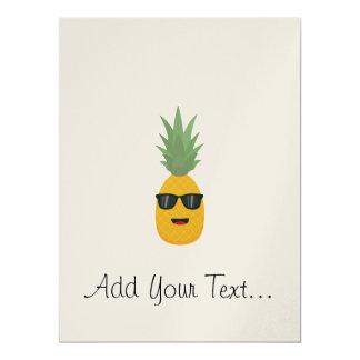 cool pineapple 17 cm x 22 cm invitation card