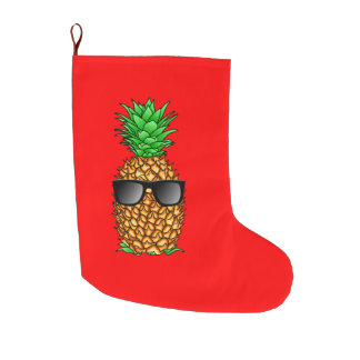 Cool Pineapple Large Christmas Stocking