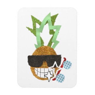Cool Pineapple Photo Magnet