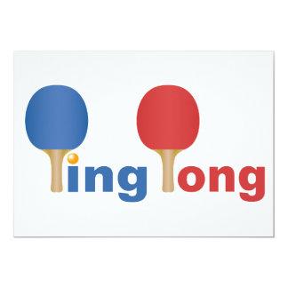 Cool Ping Pong Emblem 13 Cm X 18 Cm Invitation Card