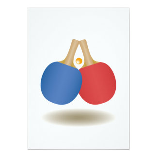 Cool Ping Pong Emblem 2 13 Cm X 18 Cm Invitation Card
