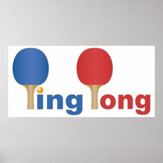 Cool Ping Pong Emblem Poster