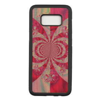 Cool pink abstract carved samsung galaxy s8 case