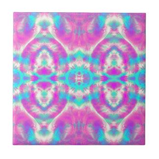 COOL Pink and Blue Pattern Tile