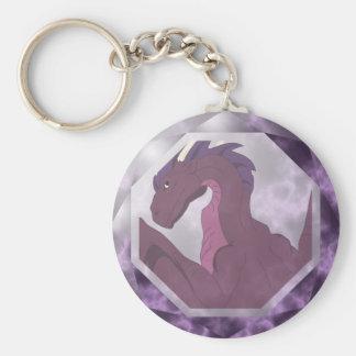 Cool Pink And Purple Dragon Gem Keychain