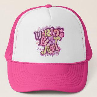 Cool pink best mom trucker hat
