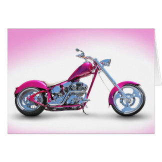 Cool Pink Chopper Postcard