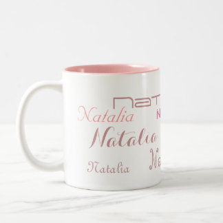 Cool Pink Fonts Your Name Personalized Coffee Mugs