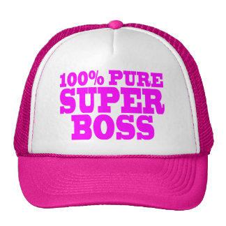 Cool Pink Gifts for Bosses 100 Pure Super Boss Mesh Hats