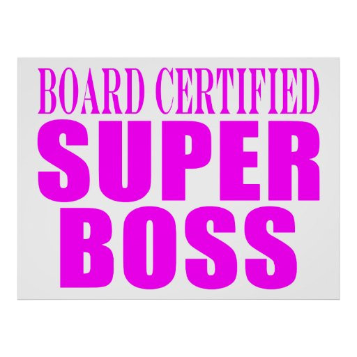 Cool Pink Gifts for Bosses : Super Boss Print