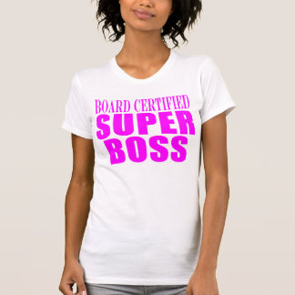 Cool Pink Gifts for Bosses : Super Boss T Shirt