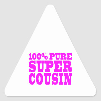 Cool Pink Gifts for Cousins : Super Cousin Stickers