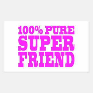 Cool Pink Gifts for Friends : Super Friend Rectangular Sticker