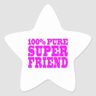 Cool Pink Gifts for Friends : Super Friend Star Sticker